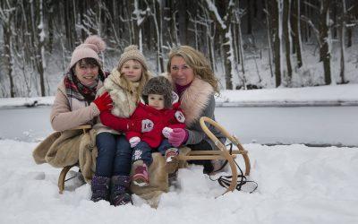 Zimní rodinné focení