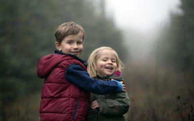 Zimní rodinné focení v lese
