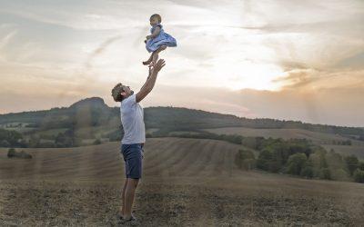 Rodinné focení při západu slunce